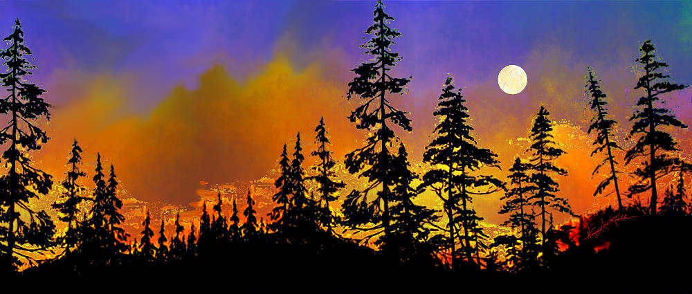 Nature Sunset Painting