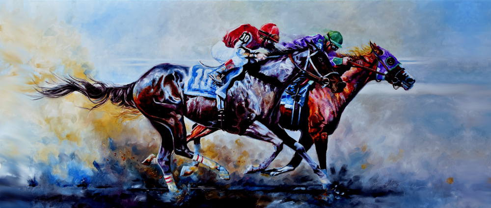 Race Horses Painting