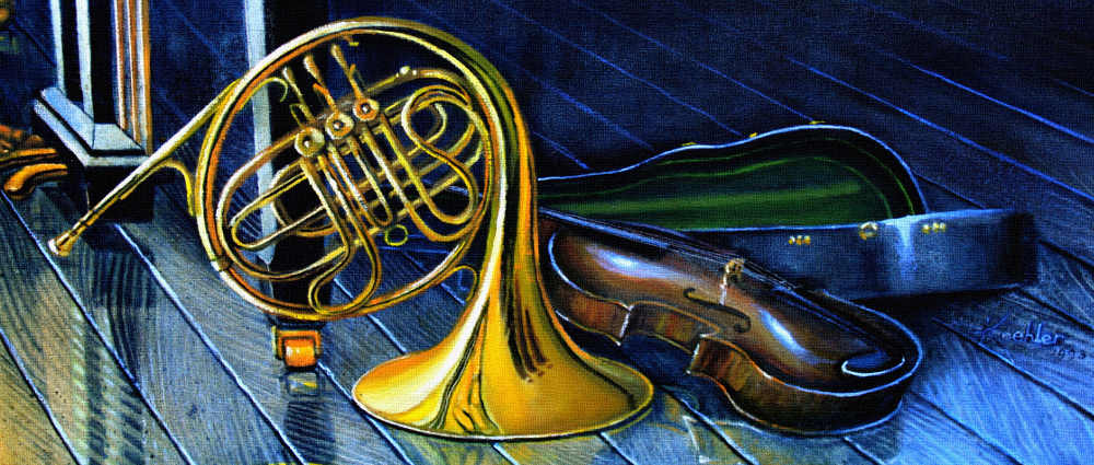 Music Instruments Painting