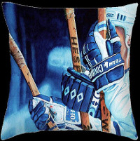 Toronto Maple Leafs hockey sticks throw pillow