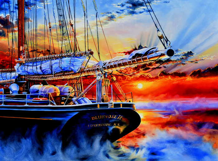 Bluenose painting