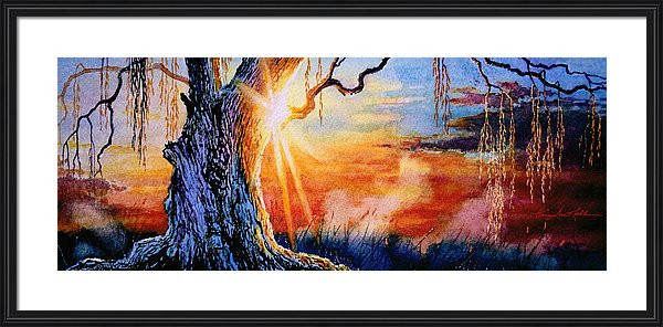 Weeping Willow Sunset Painting