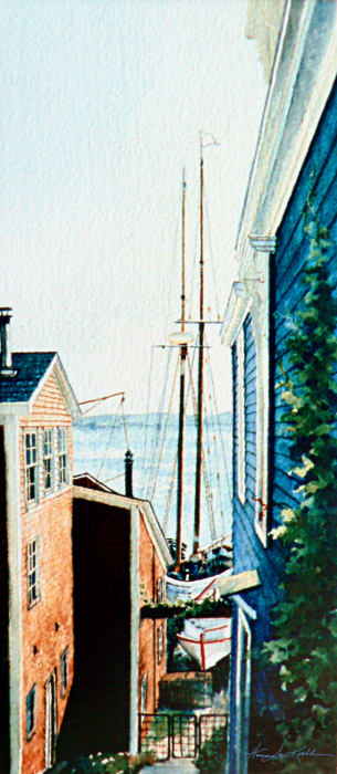 East Coast Bluenose II In Lunenburg Painting