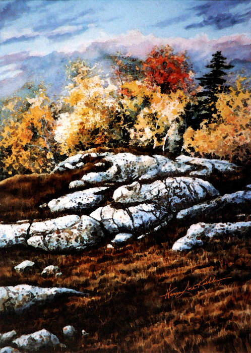 Colorful Canadian autumn Landscape painting