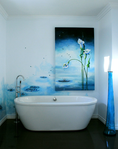 Calla Lily Canvas Wall Mural