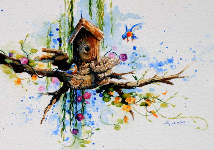 bluebird house paintings