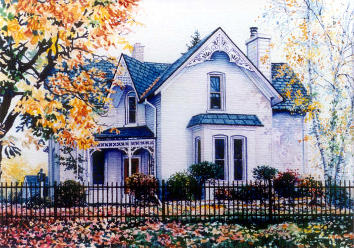 order a painted house portrait of your home
