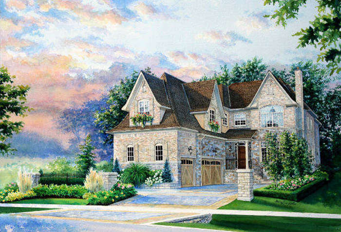 painting of my house from a picture