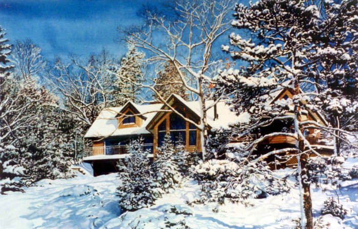 order a watercolor portrait of your cottage