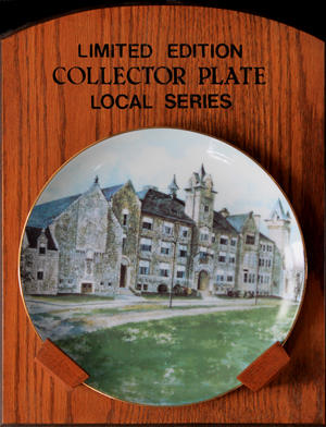 Cambridge heritage building collector plate