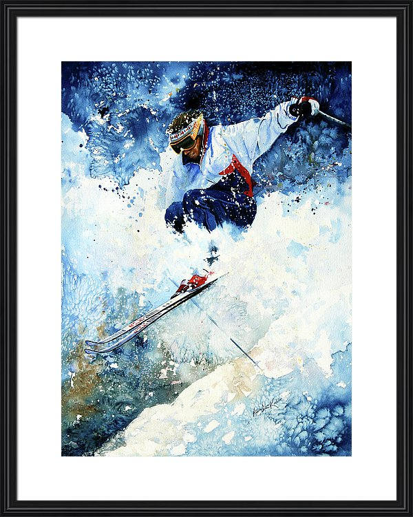 downhill skiing action painting order online direct from artist