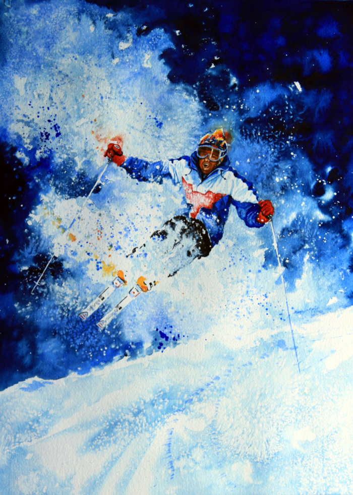 Freestyle Skiing Painting