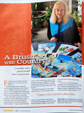 paintings in Country Woman Magazine by Hanne Lore Koehler