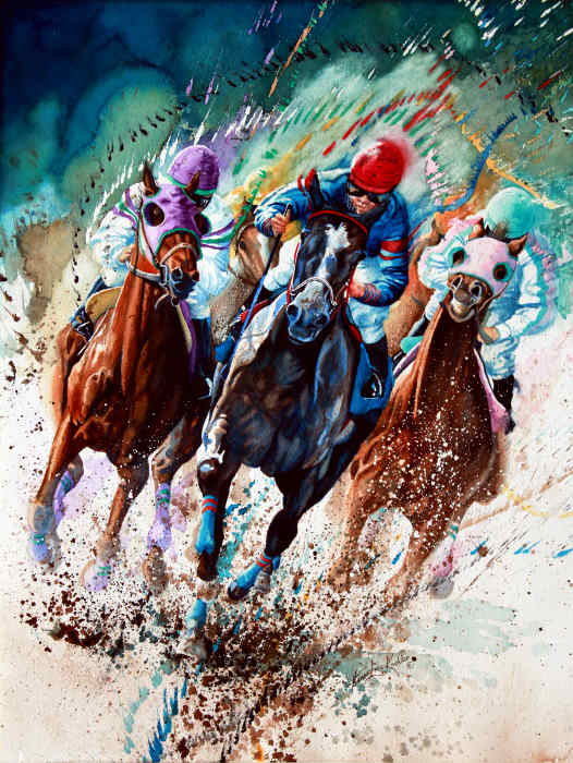 Kentcky Derby Thoroughbred Racing Painting