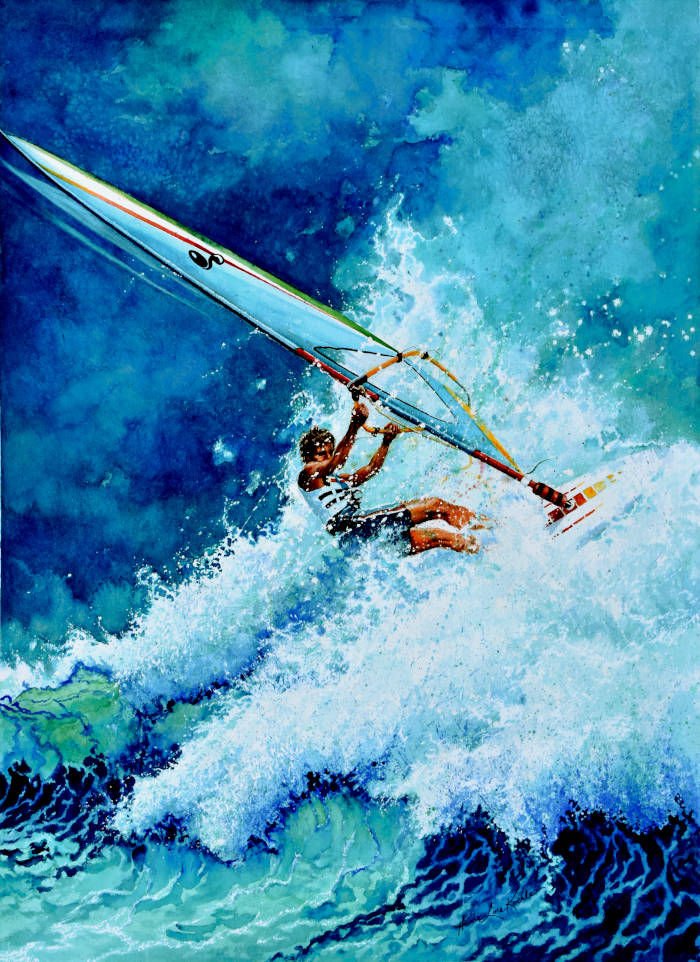 wind surfing painting
