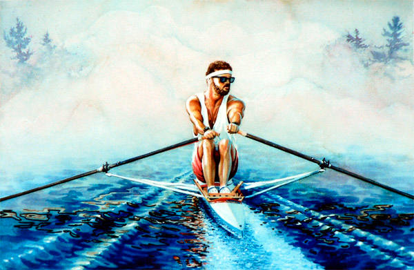 Henley Regatta scull rowing painting