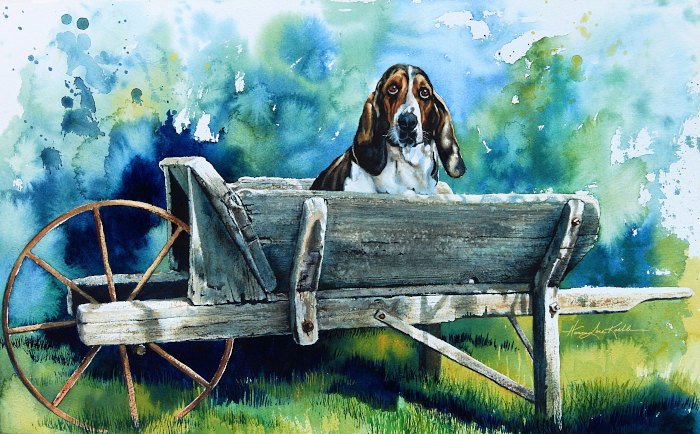 Painting Of A Basset Hound
