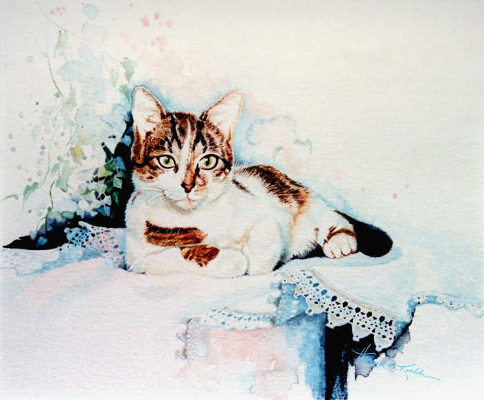 Painting of a Calico Cat