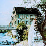 painting of The Old Cambridge Mill