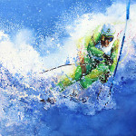 Olympic Skier Painting