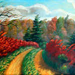 Autumn Trail oil painting