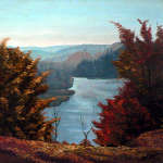 Grand River Look-out oil painting