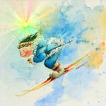 Sper-G Ski Racer Art For Kids