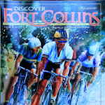 Discover Fort Collins Magazine cover art by Hanne Lore Koehler