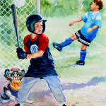 paintings of children playing sports