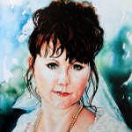 bride portrait painting