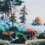 bison painting buffalo wildlife art