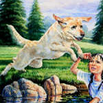 Labrador Retriever Puppy rescue painting