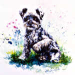 terrier pet portrait from photo