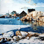 East coast maritime winter scene