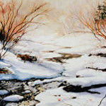 winter creek painting by Hanne Lore Koehler